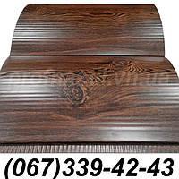 Сайдинг блок-хаус металлический Темный дуб (шир. 0,35 м) (длина под заказ)