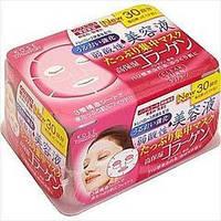 Японские омолаживающие маски для лица с коллагеном KOSE 30 шт