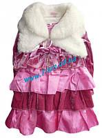 Платье для девочек Vit05129 велюр 4 шт (3-6 лет)