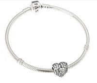 """Браслет ПАНДОРА """"Сердечко для любимой"""" 18 см (Authentic) из серебра 925 пробы."""
