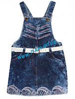 Сарафан для девочек Vit814 джинс 4 шт (3-6 лет)