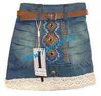 Юбка для девочек Rom640 джинс 4 шт (2-5 лет)