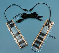 Нагревательные элементы в обувь / перчатки / одежду с питанием от USB до 50 градусов и сопутствующие товары №4 - 2 X 17*4 см, ламинат, USB