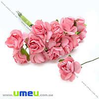 Роза бумажная, 20 мм, Розовая, 1 шт (DIF-014617)