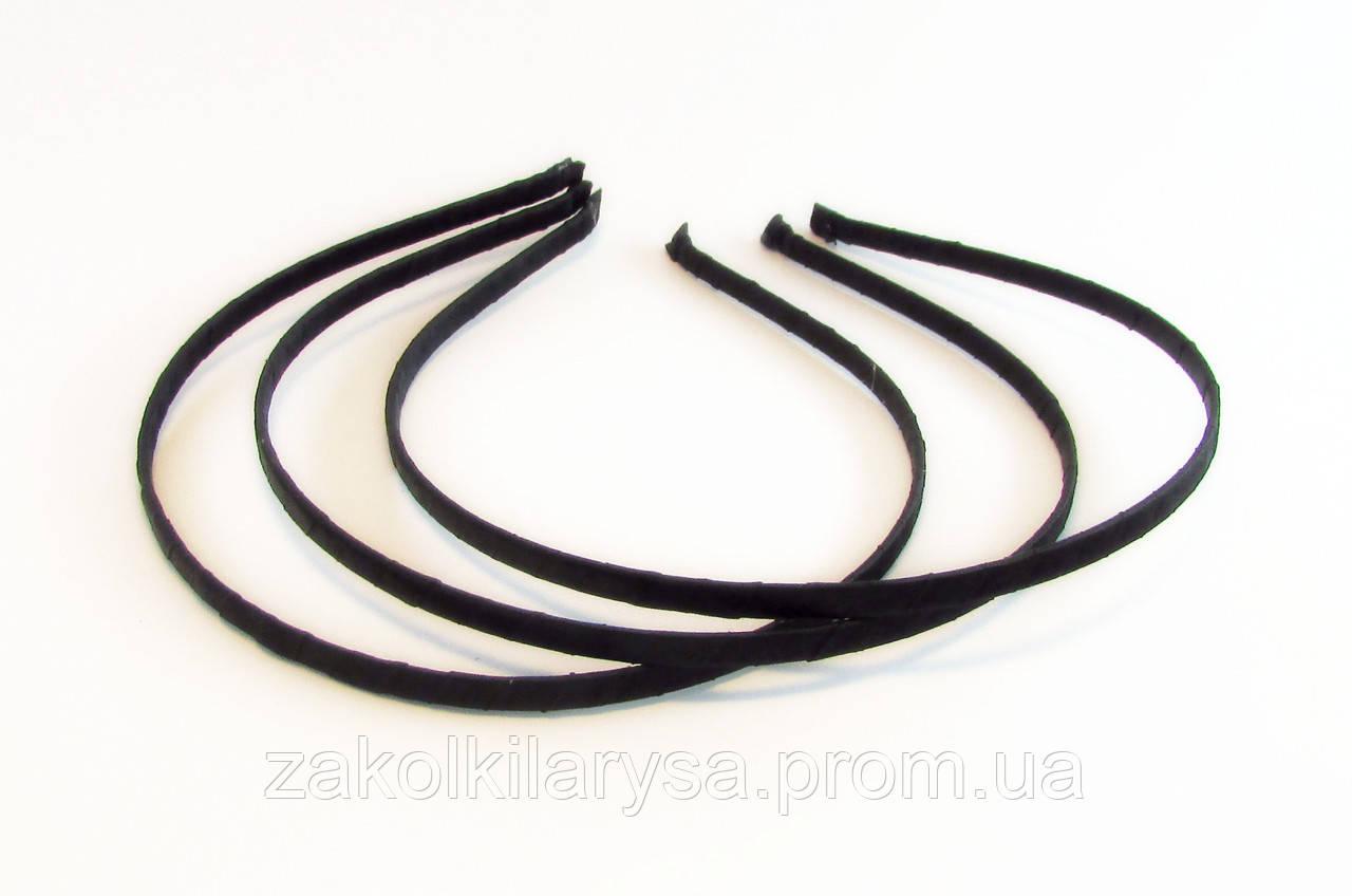 Обруч для волос металл/ткань-12 шт.- ширина 0,5 см * Ø 12,0 см.