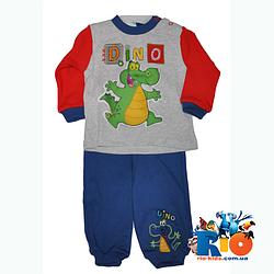 """Детский трикотажный костюм """"Dino"""" для мальчика от 9-12-18 мес"""