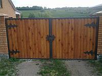 Ворота дворовые из корабельной доски