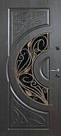 """Входная дверь с ковкой и стеклом """"Портала"""" (серия PatinaElit) ― модель BIG-13 Vinorit"""
