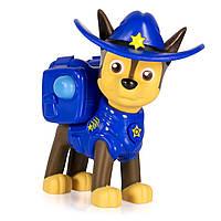 Щенячий патруль фигурка спасателя Чейз ковбой с трансформирующимся рюкзаком Paw Patrol Marshall