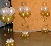 Стойки из воздушных шаров на свадьбу