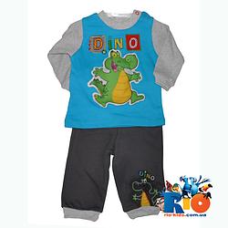 """Трикотажный костюм """"Dino"""" для мальчика от 9-12-18 мес"""