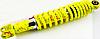 "Амортизатор GY6, DIO ZX, LEAD 310mm, регулируемый ""NDT"" (лимонный +паутина)"
