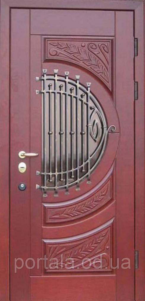 """Вхідні двері """"Портала"""" (серія Преміум) ― модель M-5 Vinorit (3-D, патина)"""
