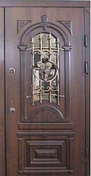 """Входная дверь с ковкой и стеклом """"Портала"""" (серия PatinaElit) ― модель M-6 Vinorit"""