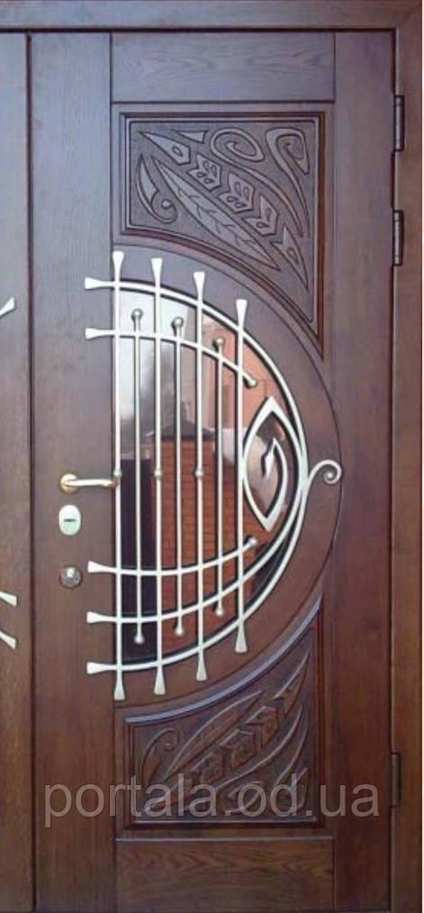 """Входная дверь """"Портала"""" (серия Премиум) ― модель M-7 Vinorit (3-D, патина) - Оптово-розничный магазин дверей «ПОРТАЛА»  в Одессе"""