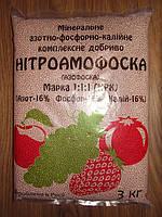 Нитроаммофоска 3 кг пакет  Марка:16-16-16 пр-во Россия