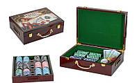 Покер 7703602 в дерев 500фиш. по 11.5г с номиналом