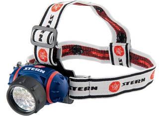 Ліхтар наголовний, світлодіодний. 4 режиму, 14Led, 3хААА,  90563 Stern  // фонарик led