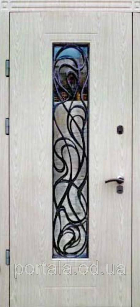 """Вхідні двері для вулиці """"Портала"""" (Преміум Vinorit) ― модель Невада"""