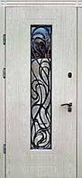 """Входная дверь с ковкой и стеклом для улицы """"Портала"""" (Элит Vinorit) ― модель Невада"""