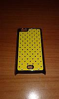 Чехол со стразами Sony Xperia Miro ST23i жёлтый