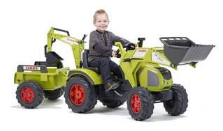 Педальний Трактор з двома ковшами Claas Axos Falk 1010Y
