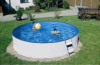 Басейн каркасний Azuro круглий 240A 2,4 х 0,9 м (4м3) зі сходами і фільтром 2,0 м3 на годину, фото 1