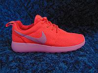 Женские повседневные кроссовки NIKE Roshe Run оранжевые с розовым