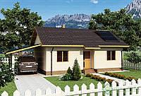 Строительство дома из сип панелей 99м.кв. «ВЕСТА»