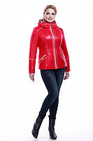 Демисезонная куртка больших размеров Кира, красного цвета