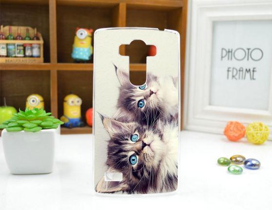 Чехол для LG G4s панель накладка с рисунком котики