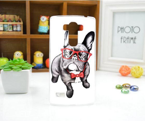 Чехол для LG G4s панель накладка с рисунком дог