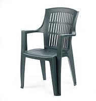 Кресло стул пластиковое Arpa зеленое