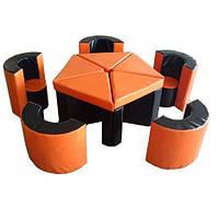 """Мягкие модули """"Мебель Арена"""" со столом и стульями"""