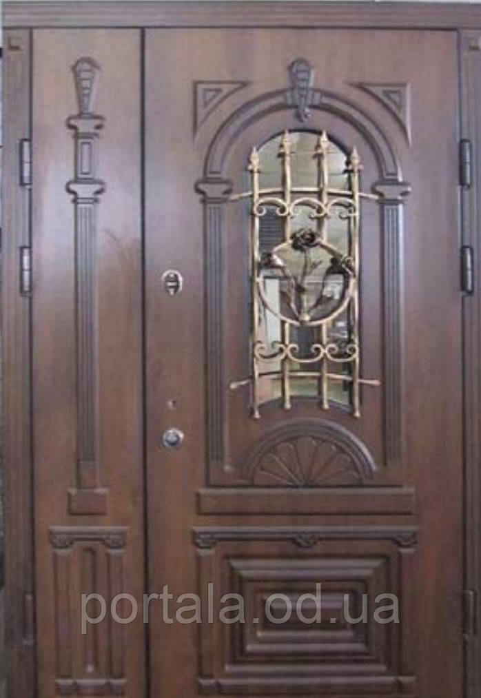 """Входная полуторные дверь для улицы """"Портала Армекс"""" ― модель М-6"""