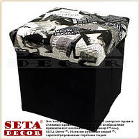 Ящик для вещей, коробка пуф, чёрно-белый складной Мэрилин Монро
