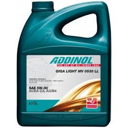 Масло моторное Addinol 5W-30 Giga Light 0530 LL 5л (vw507)