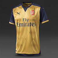 Футбольная форма 2015-2016 Арсенал (Arsenal), выездная, золотая, н28