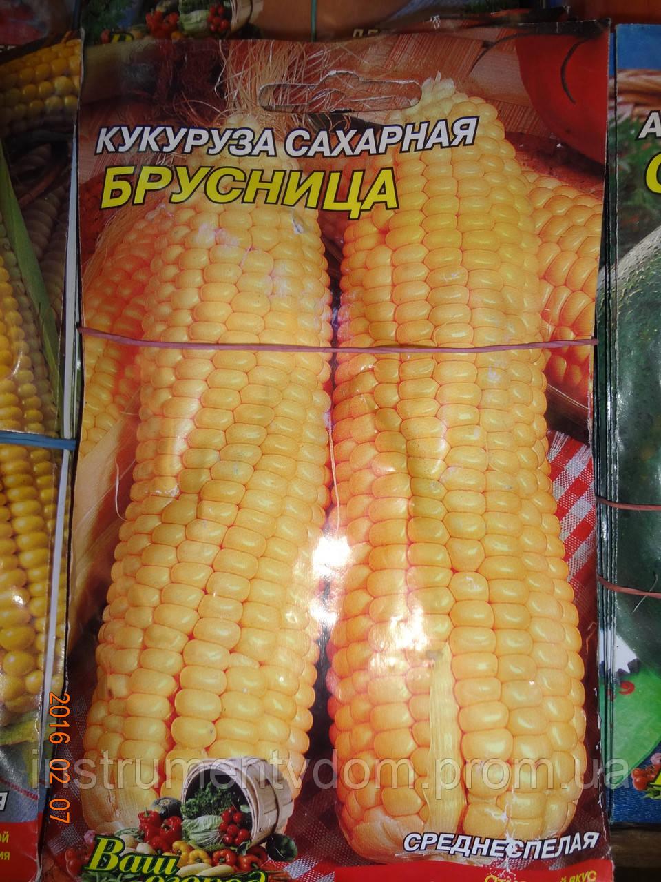 """Семена кукурузы сахарной """"Брусница"""" ТМ Ваш огород (упаковка 10 пачек)"""