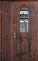 """Входная полуторные дверь элит класса """"Портала Армекс"""" (3-D фрезеровка, патина) ― модель BIG-4, фото 1"""