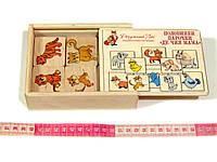 Деревянная игрушка половинки ассоциации Где чья мама, фото 1