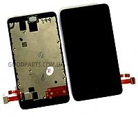 Дисплей с тачскрином и рамкой для Nokia X Dual Sim (Оригинал)
