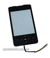 Сенсорный экран (тачскрин) для FLY E210 черный (Оригинал)