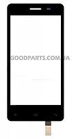 Сенсорный экран (тачскрин) для FLY IQ4403 Spark черный (Оригинал)