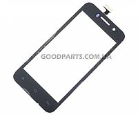 Сенсорный экран (тачскрин) для FLY IQ446 черный (Оригинал)