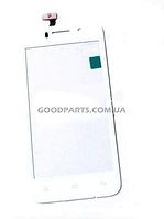Сенсорный экран (тачскрин) для FLY IQ446 белый (Оригинал)