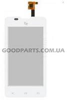 Сенсорный экран (тачскрин) для FLY IQ449 Pronto белый (Оригинал)