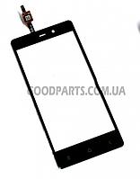 Сенсорный экран (тачскрин) для FLY IQ453 Quad Luminor FHD черный (Оригинал)