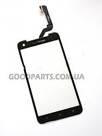 Сенсорный экран (тачскрин) для HTC 901e Butterfly S, 901s Butterfly S, черный (Оригинал)