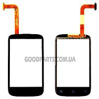 Сенсорный экран (тачскрин) для HTC A320 Desire C черный (Оригинал)